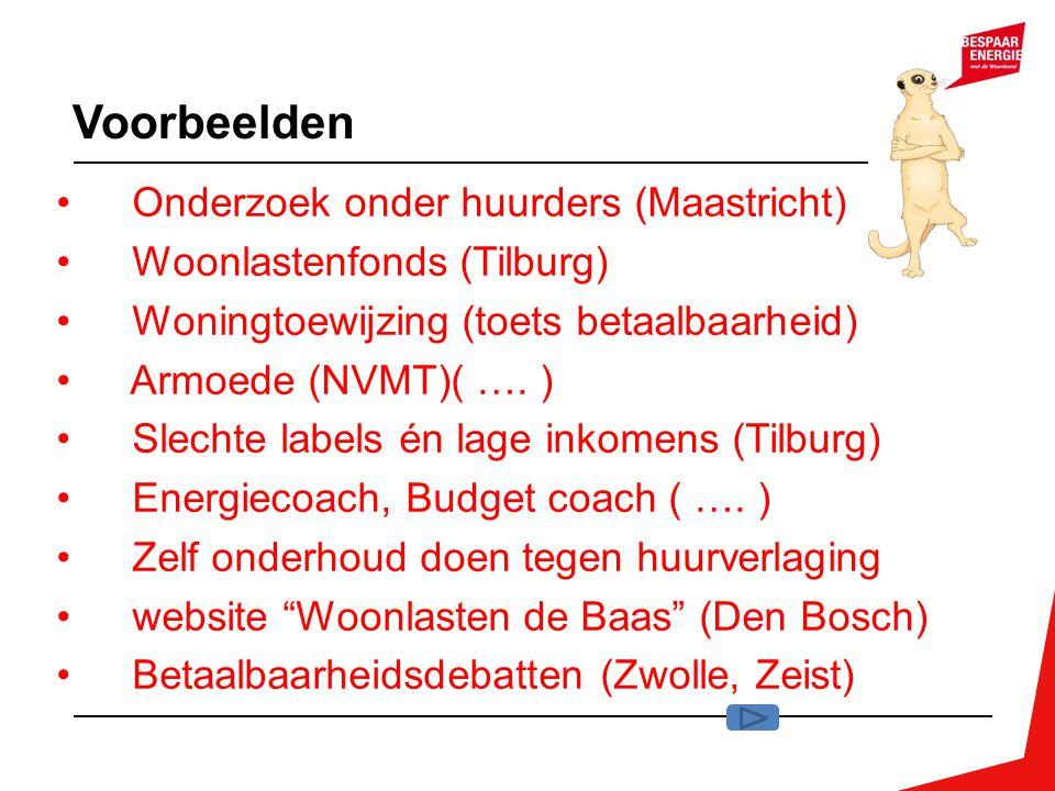 Voorbeelden Onderzoek onder huurders (Maastricht)