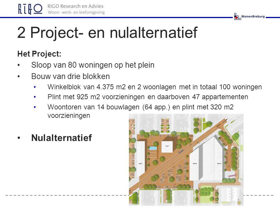 2 Project- en nulalternatief