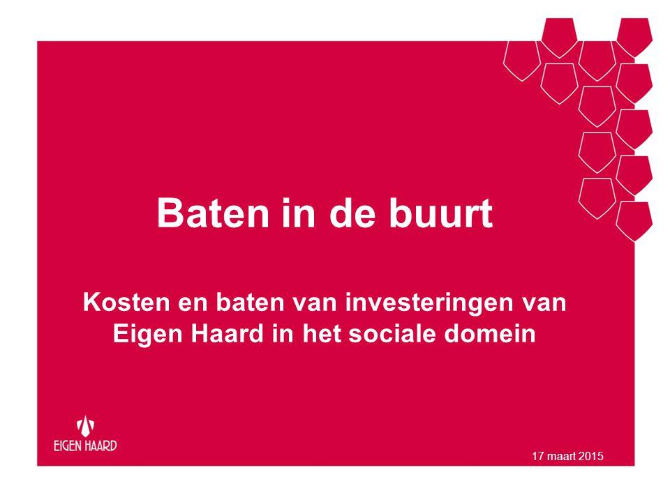 Baten in de buurt Kosten en baten van investeringen van Eigen Haard in het sociale domein.