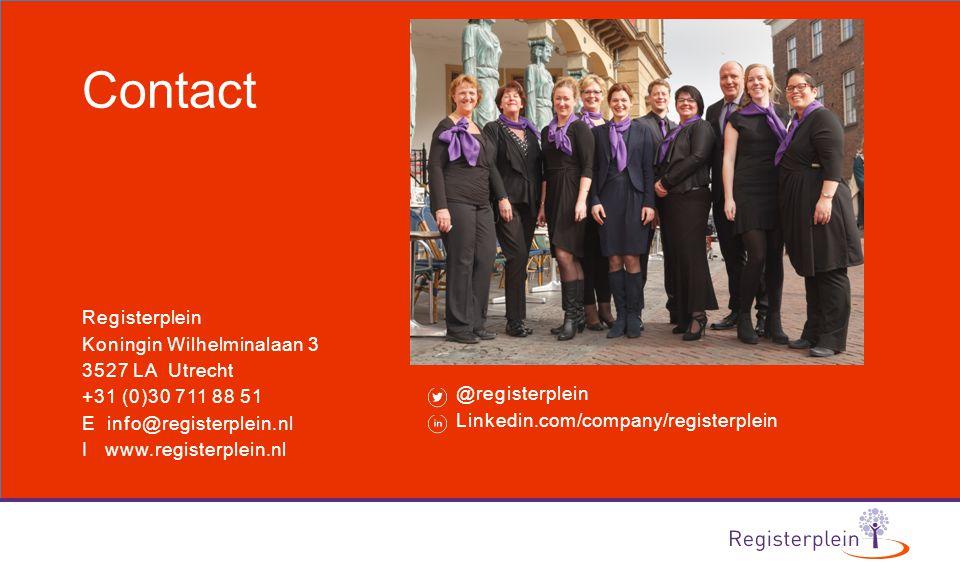 Contact Registerplein Koningin Wilhelminalaan 3 3527 LA Utrecht