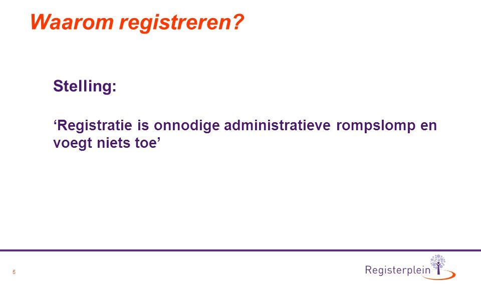 Waarom registreren Stelling: