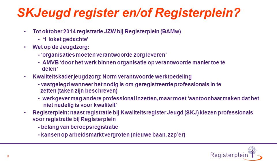 SKJeugd register en/of Registerplein