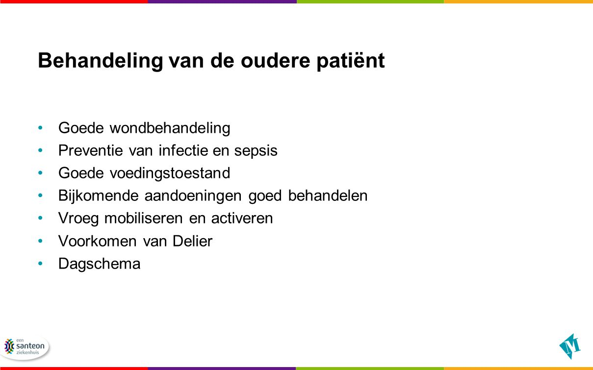 Behandeling van de oudere patiënt