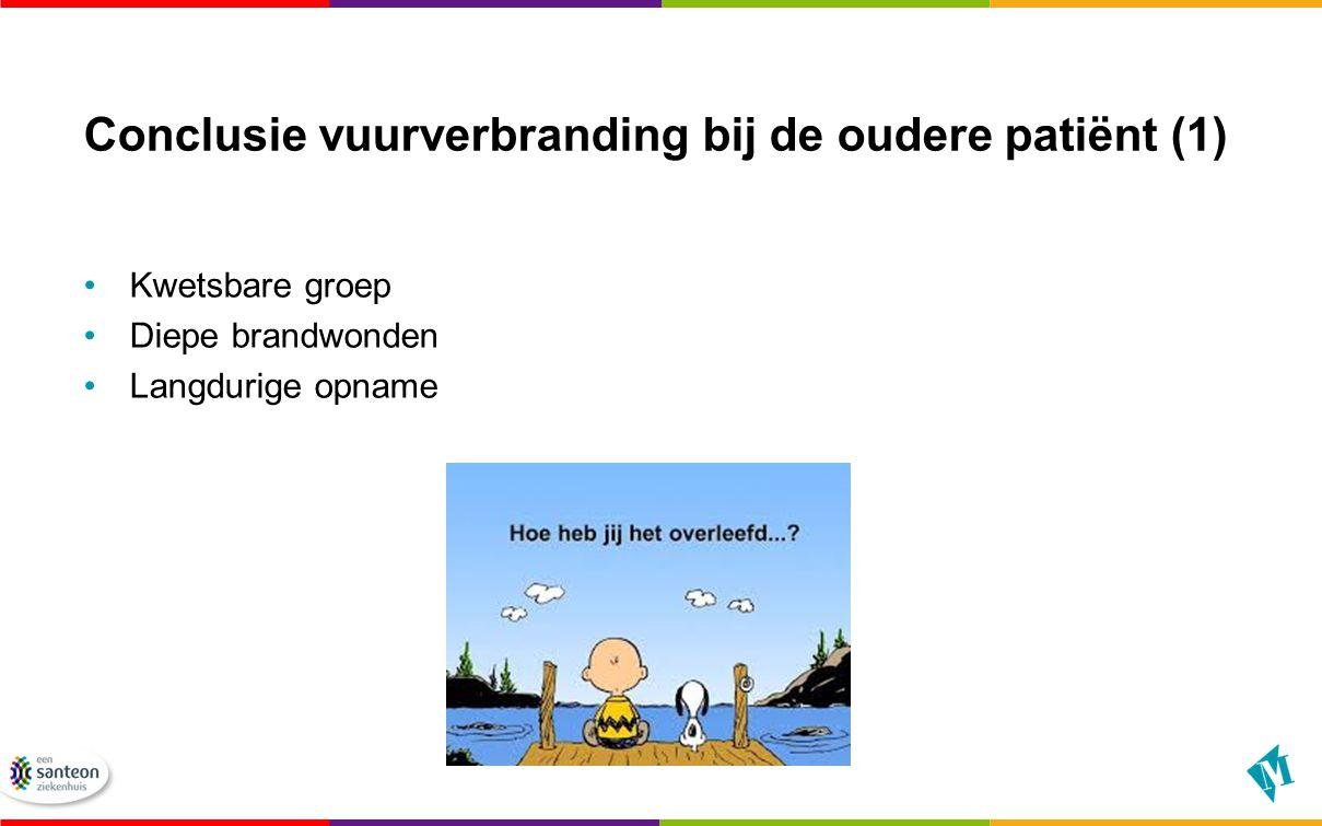 Conclusie vuurverbranding bij de oudere patiënt (1)