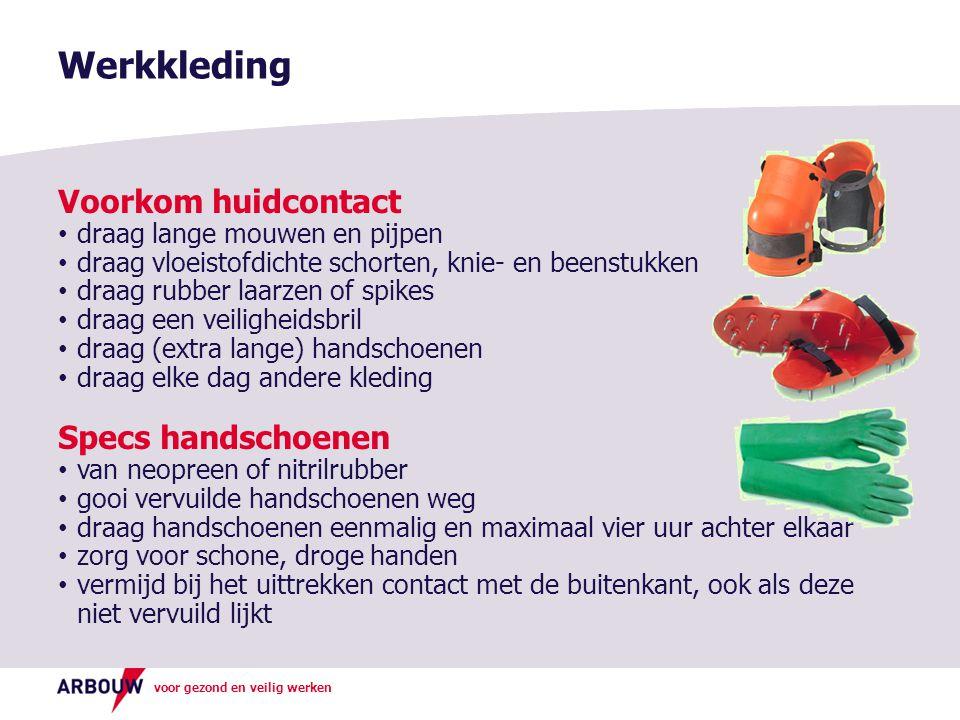 Werkkleding Voorkom huidcontact Specs handschoenen