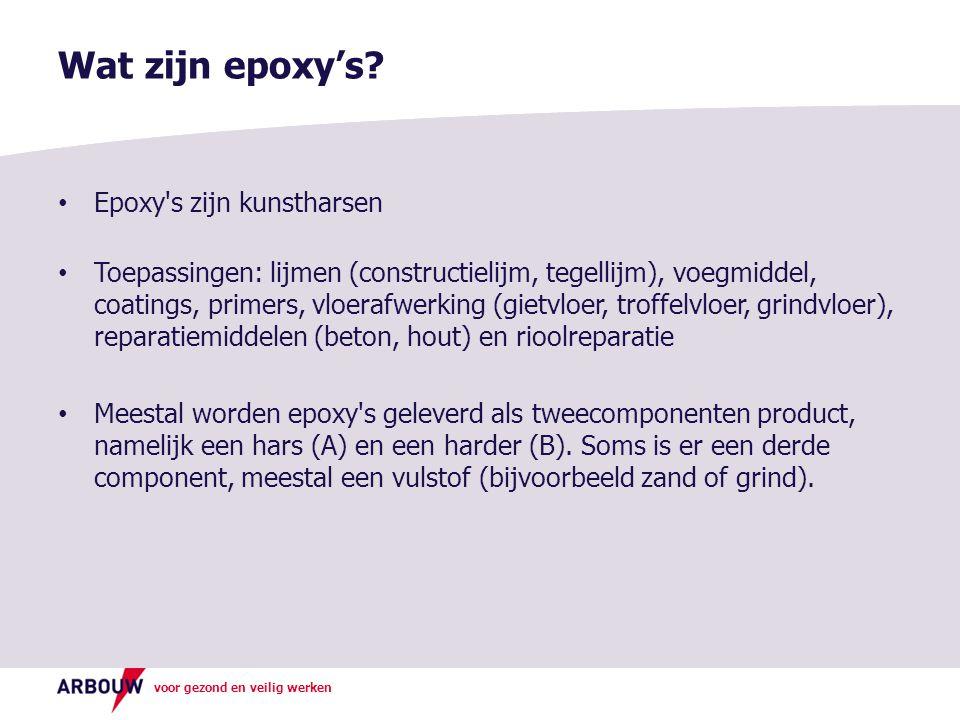 Wat zijn epoxy's Epoxy s zijn kunstharsen