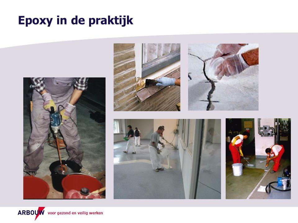 Epoxy in de praktijk Hier kunt u aangeven welke epoxy's in uw bedrijf worden gebruikt.