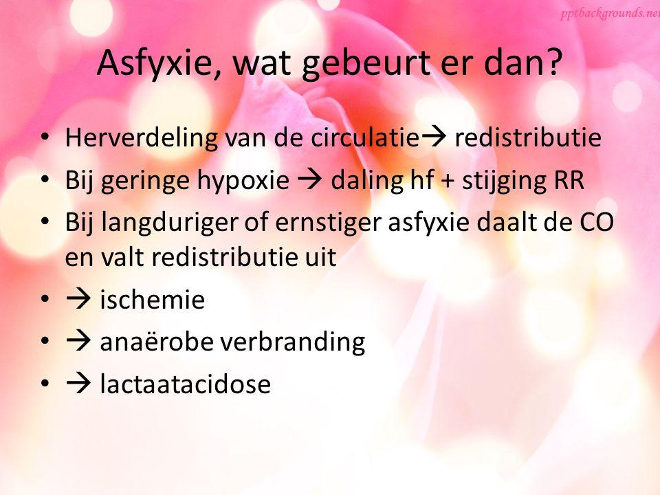 Asfyxie, wat gebeurt er dan