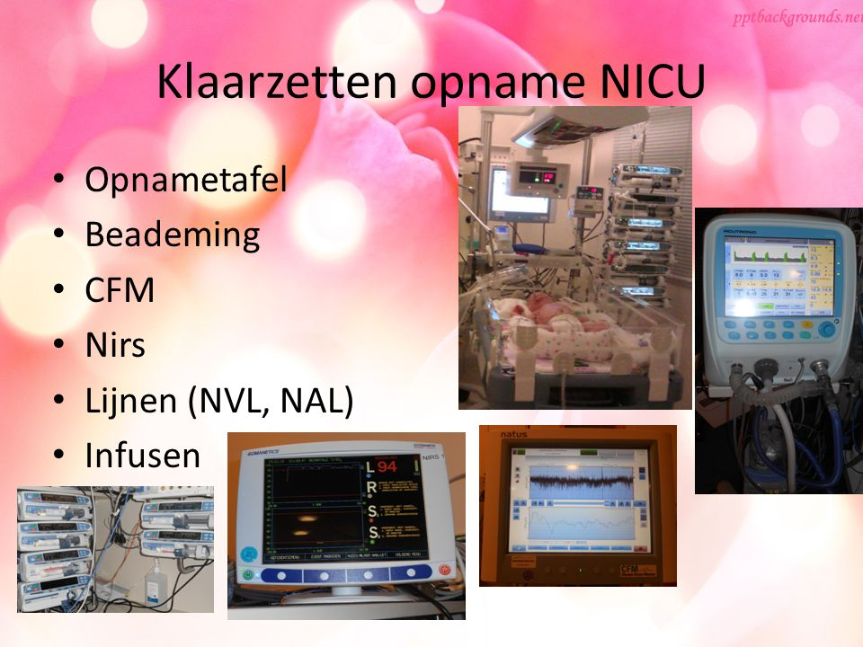 Klaarzetten opname NICU