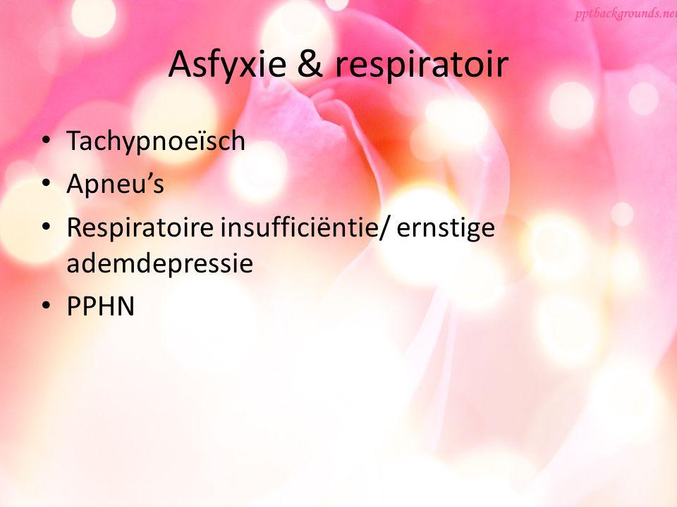 Asfyxie & respiratoir Tachypnoeïsch Apneu's