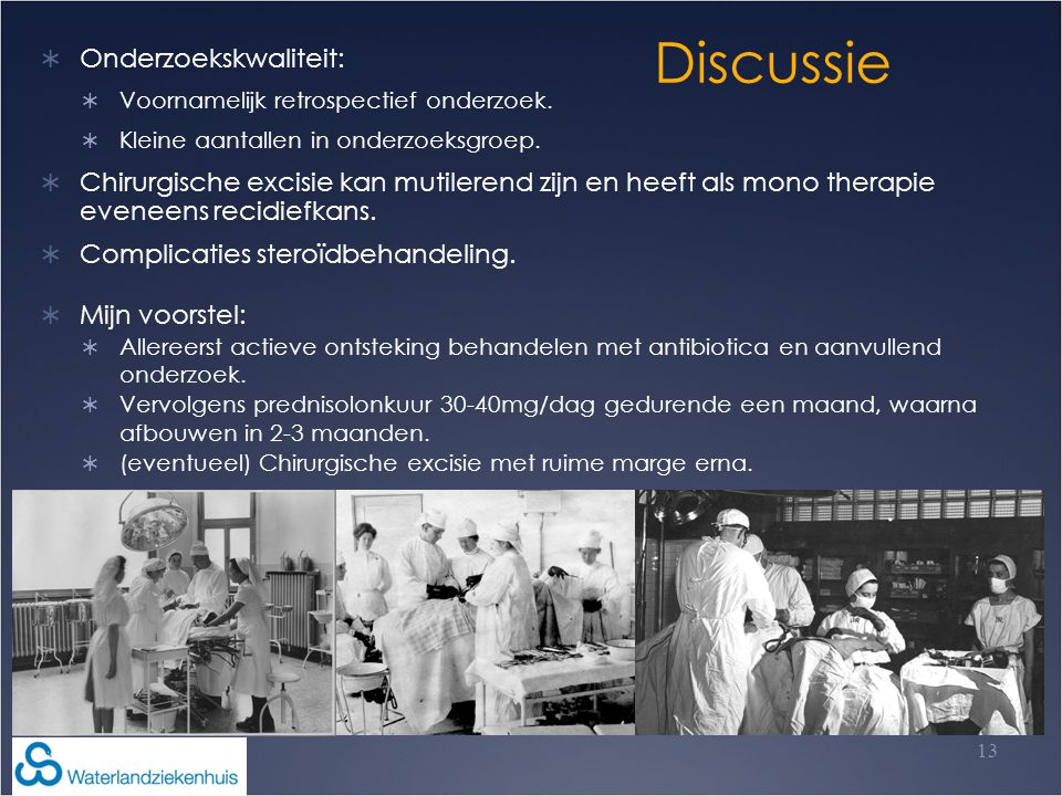 Discussie Onderzoekskwaliteit: