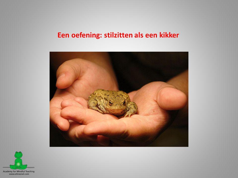 Een oefening: stilzitten als een kikker