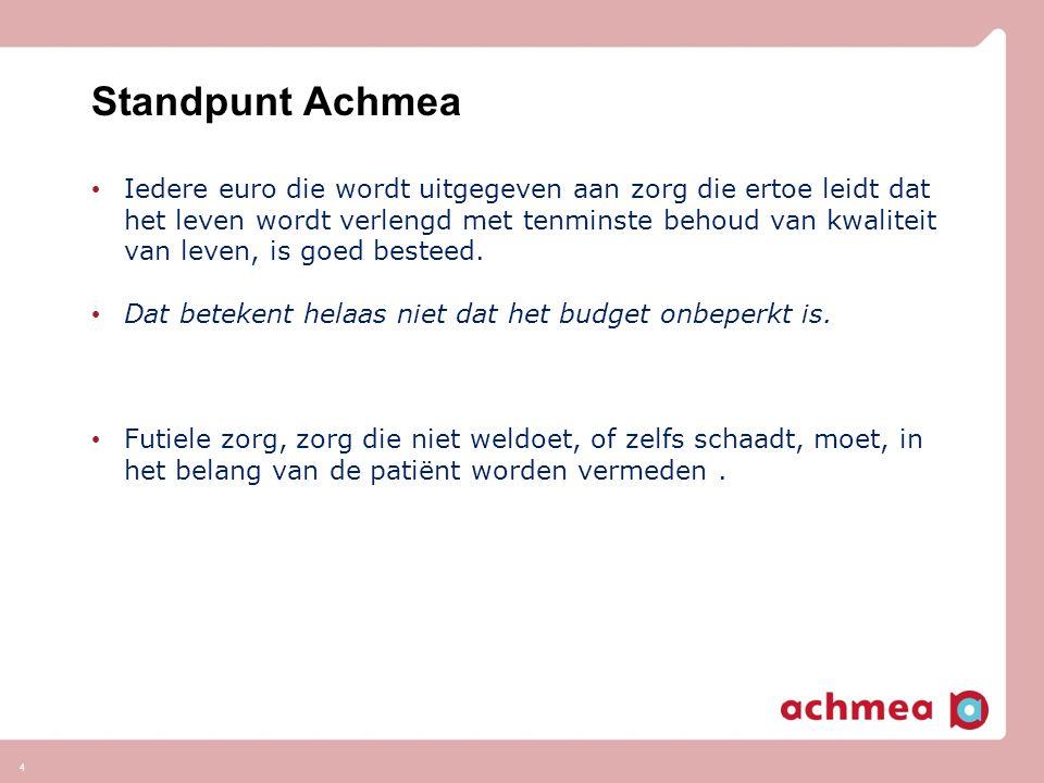 Standpunt Achmea