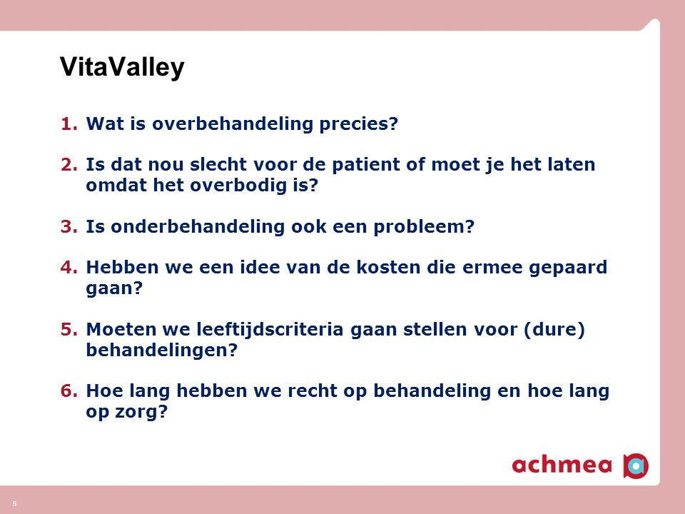 VitaValley Wat is overbehandeling precies