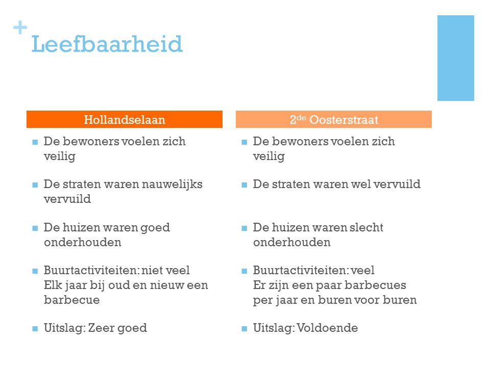 Leefbaarheid Hollandselaan 2de Oosterstraat
