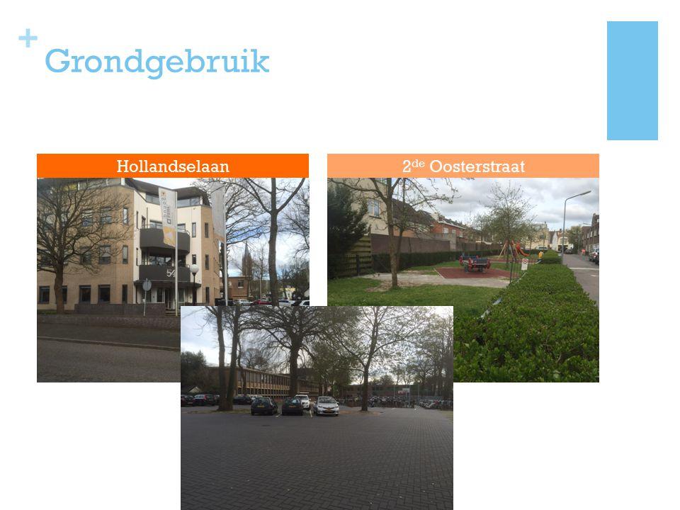 Grondgebruik Hollandselaan 2de Oosterstraat 85% Woningen (huizen)