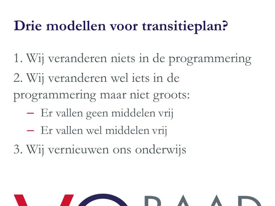 Drie modellen voor transitieplan