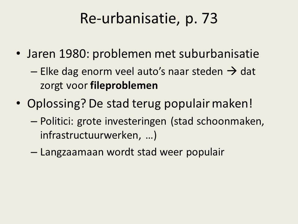 Re-urbanisatie, p. 73 Jaren 1980: problemen met suburbanisatie