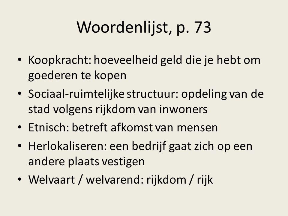 Woordenlijst, p. 73 Koopkracht: hoeveelheid geld die je hebt om goederen te kopen.