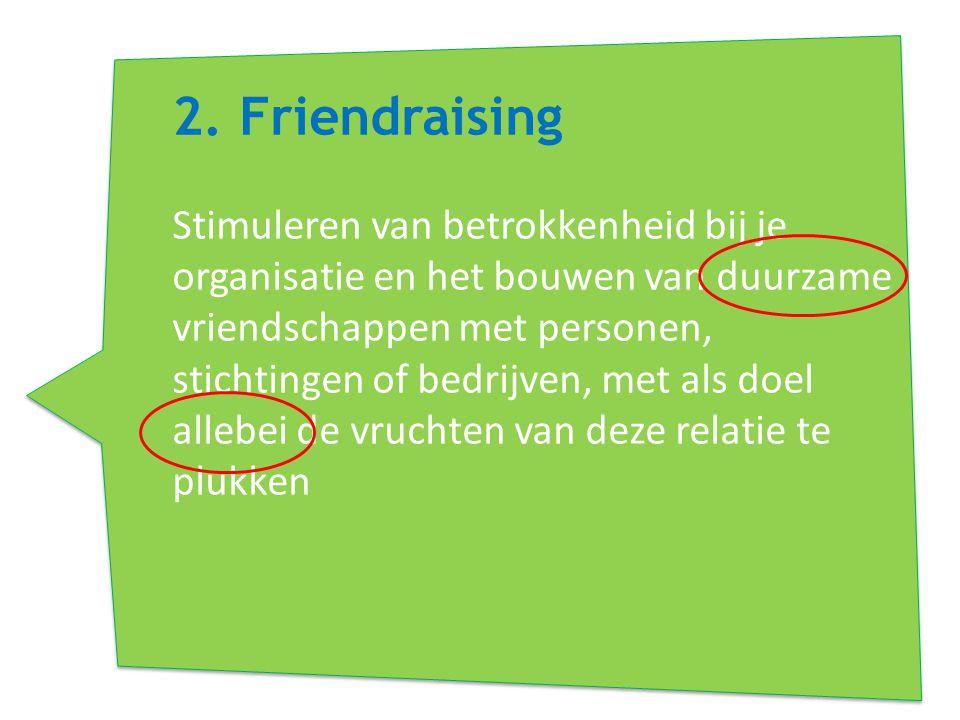 2. Friendraising
