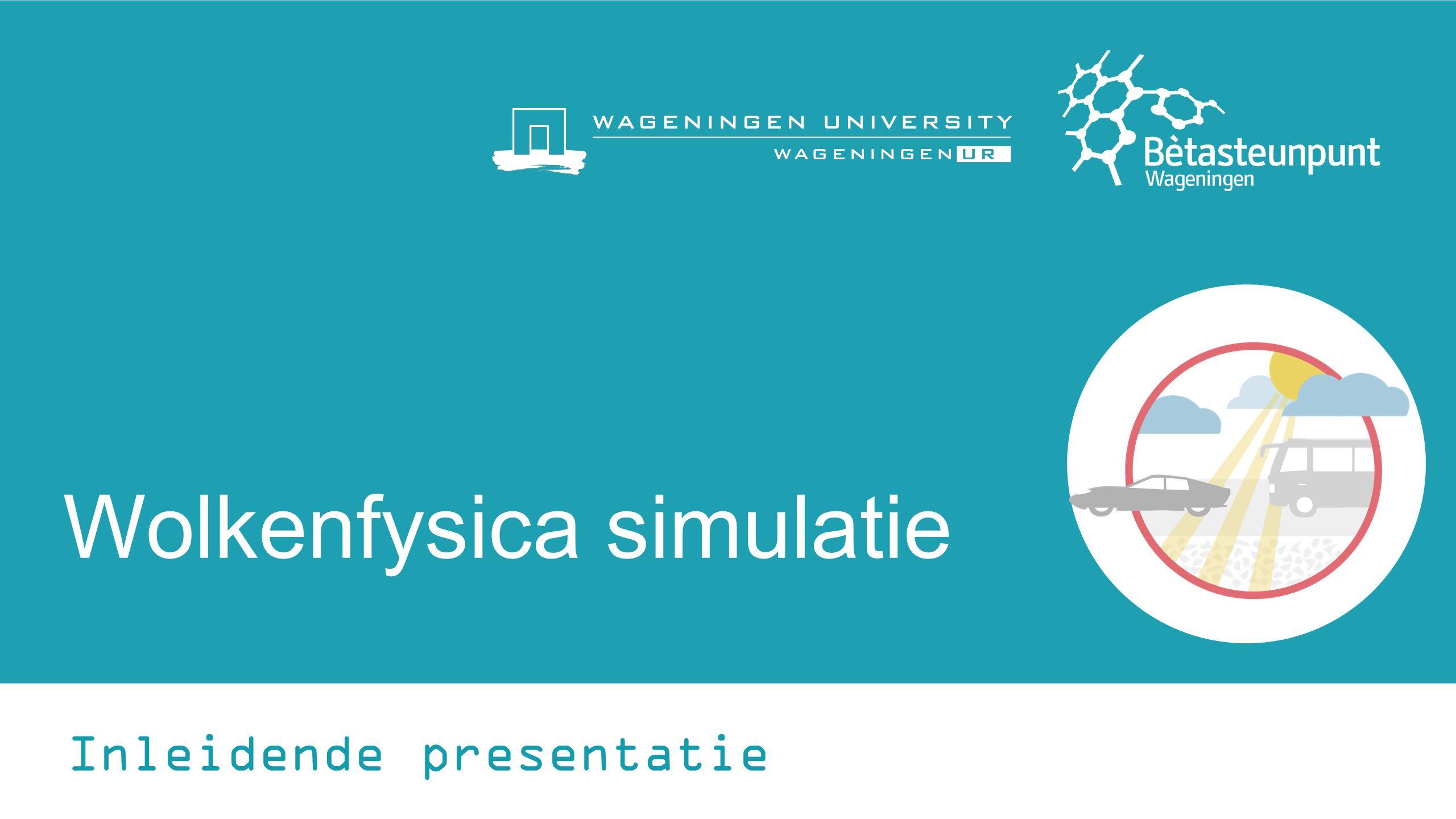 Wolkenfysica simulatie