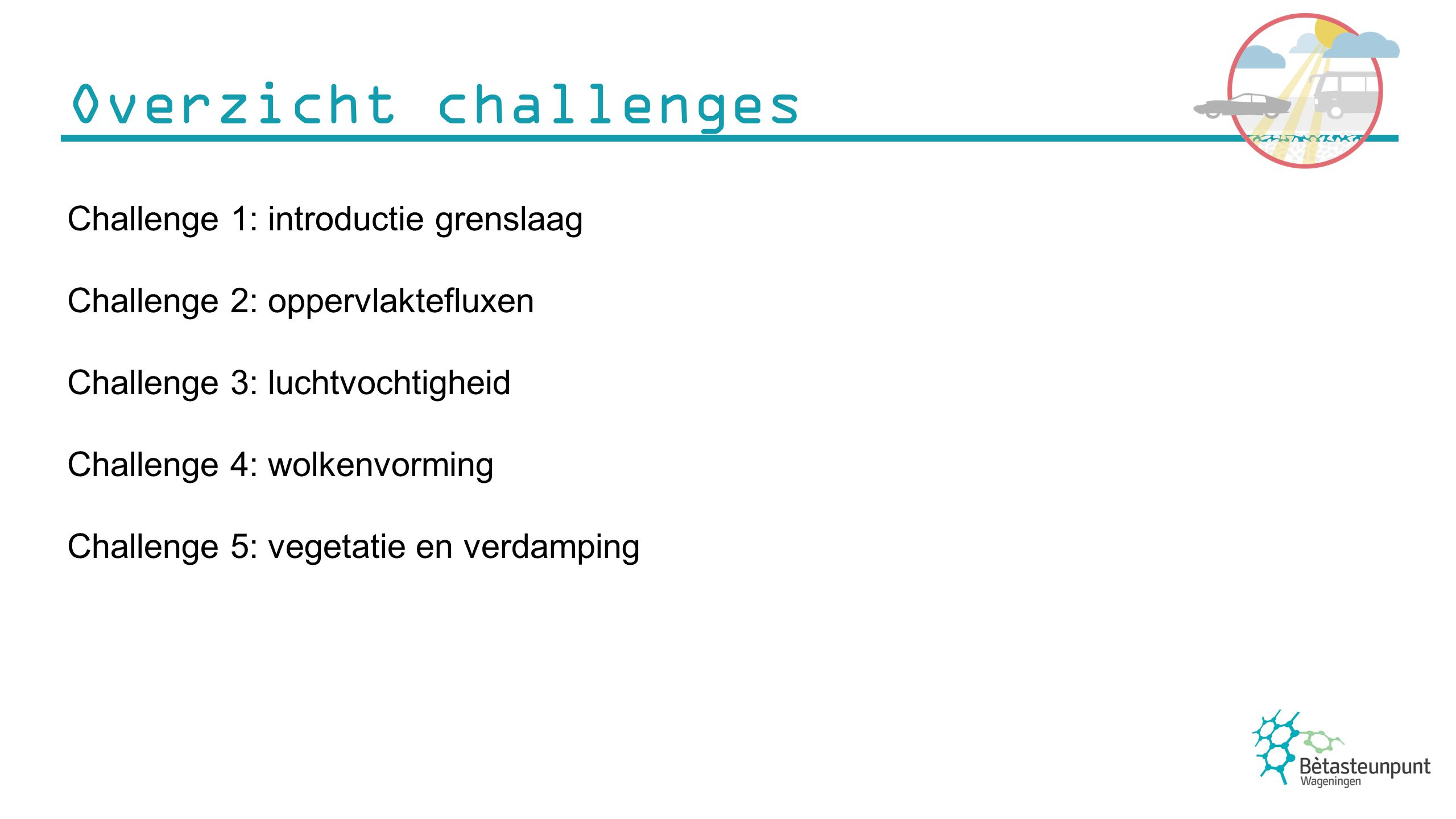 Overzicht challenges