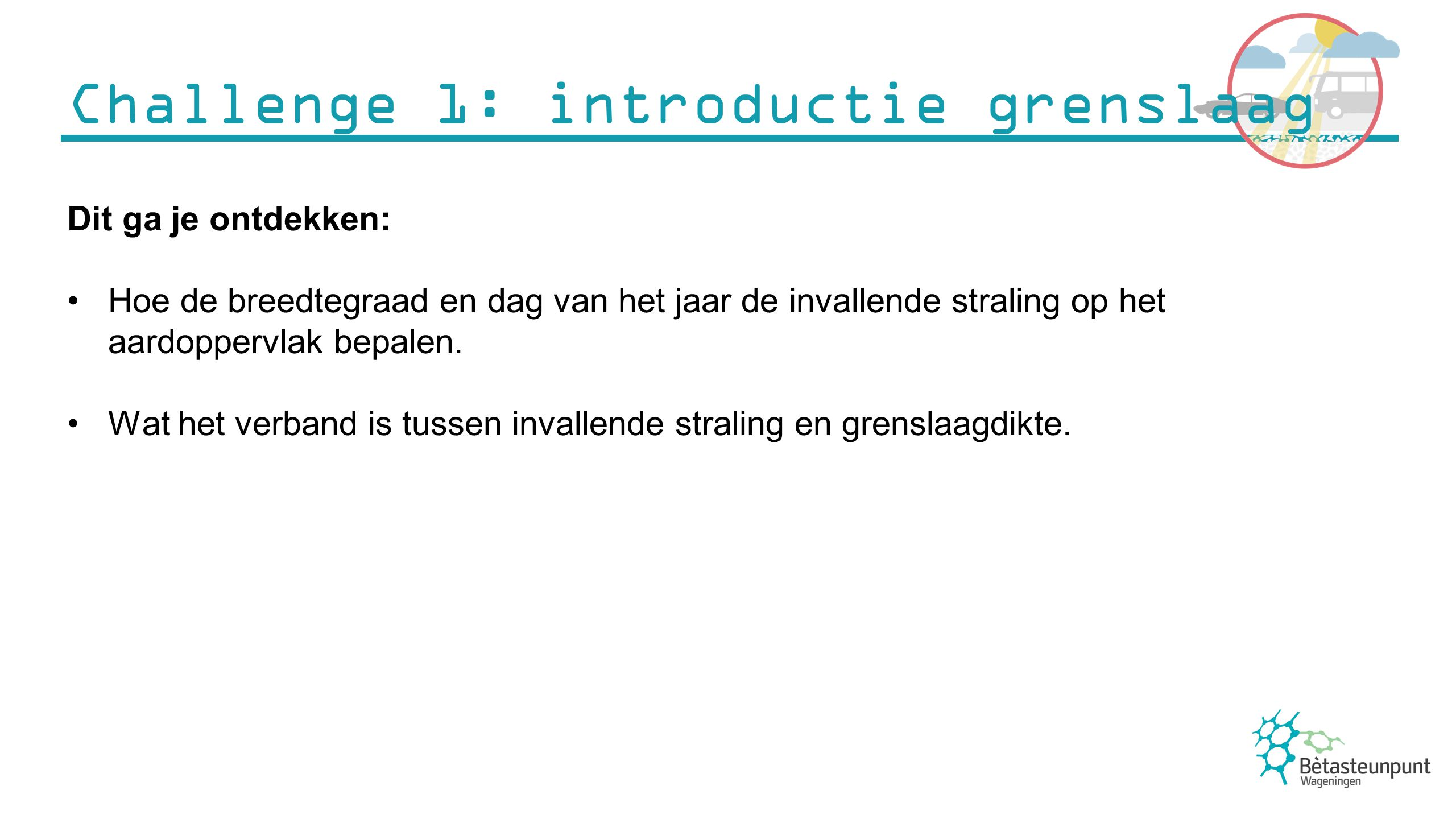 Challenge 1: introductie grenslaag
