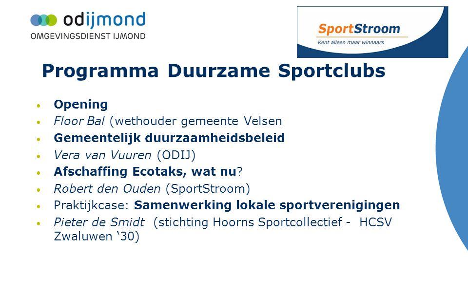 Programma Duurzame Sportclubs