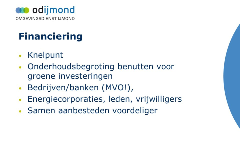 Financiering Knelpunt