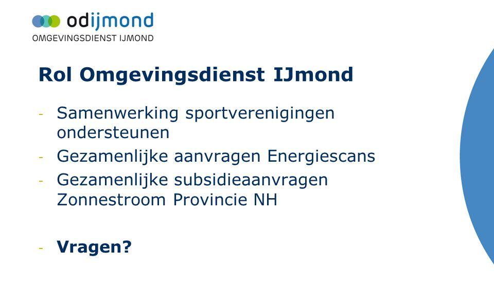 Rol Omgevingsdienst IJmond
