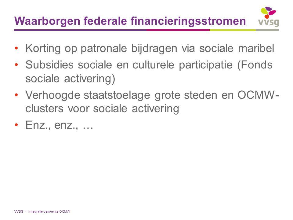 Waarborgen federale financieringsstromen