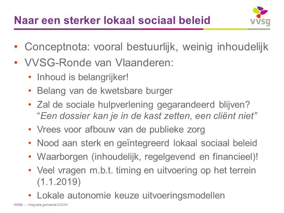 Naar een sterker lokaal sociaal beleid