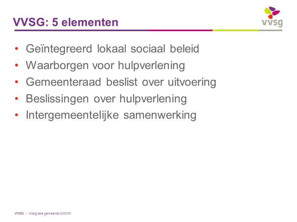 Geïntegreerd lokaal sociaal beleid Waarborgen voor hulpverlening