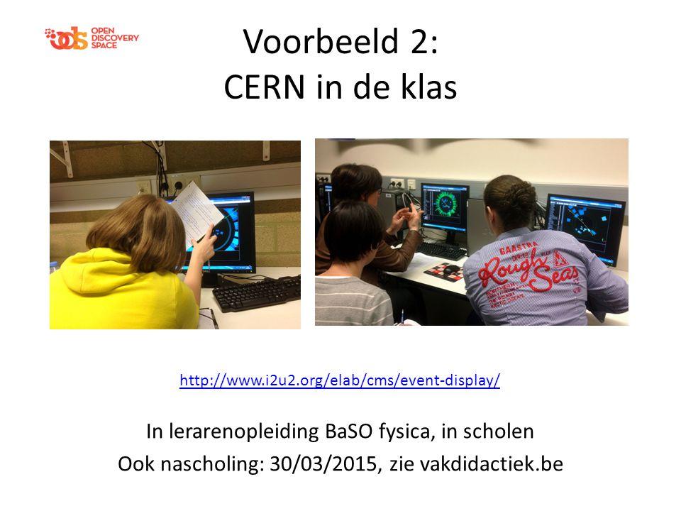 Voorbeeld 2: CERN in de klas
