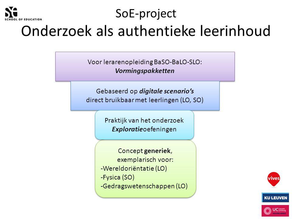 SoE-project Onderzoek als authentieke leerinhoud