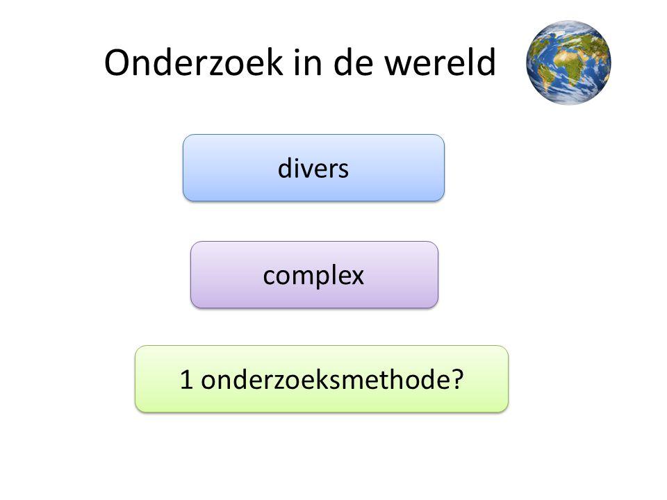 Onderzoek in de wereld divers complex 1 onderzoeksmethode