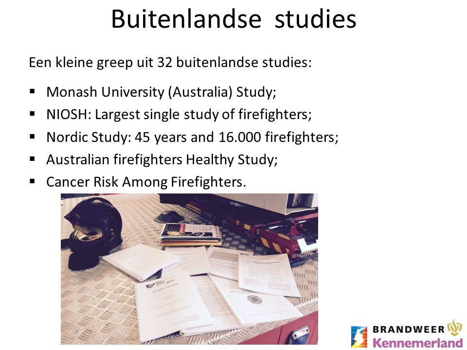 Buitenlandse studies Een kleine greep uit 32 buitenlandse studies: