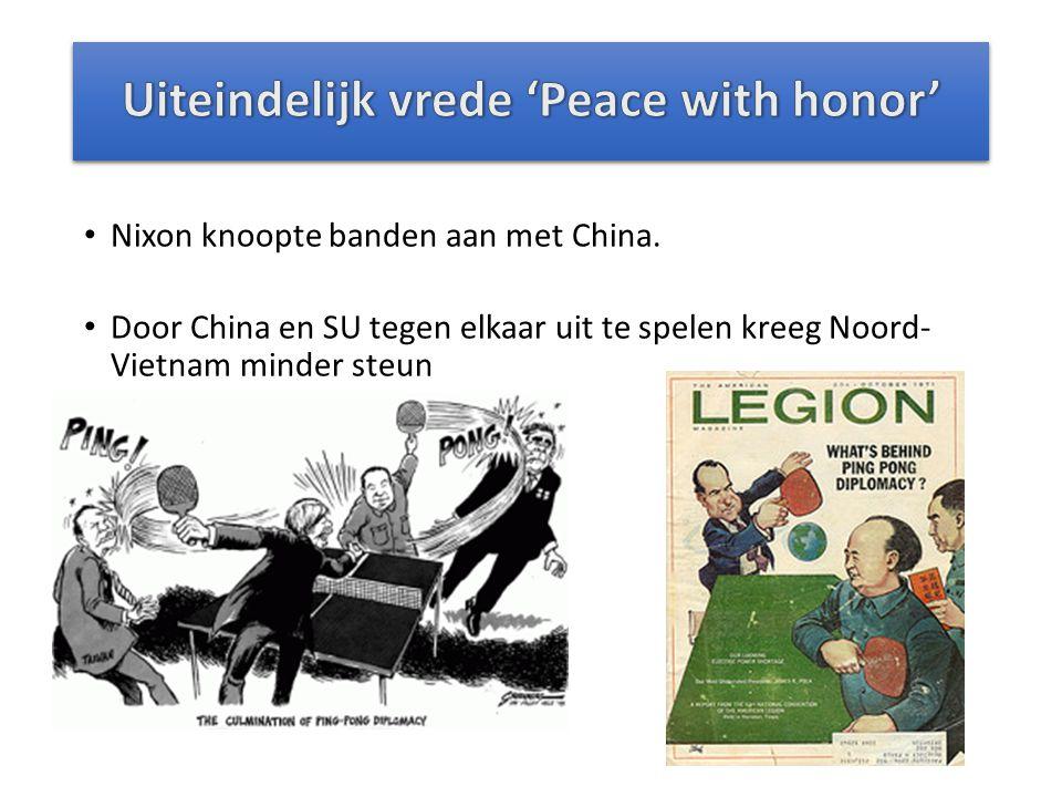Uiteindelijk vrede 'Peace with honor'