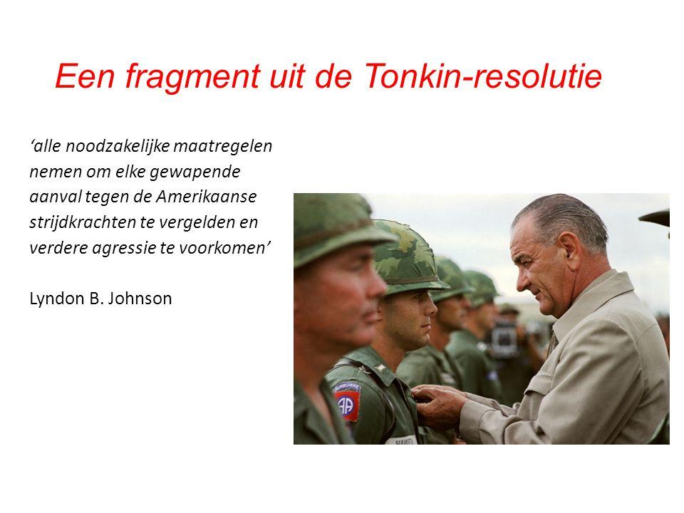 Een fragment uit de Tonkin-resolutie