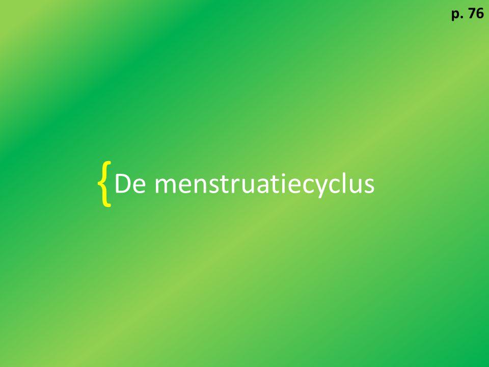 p. 76 De menstruatiecyclus {