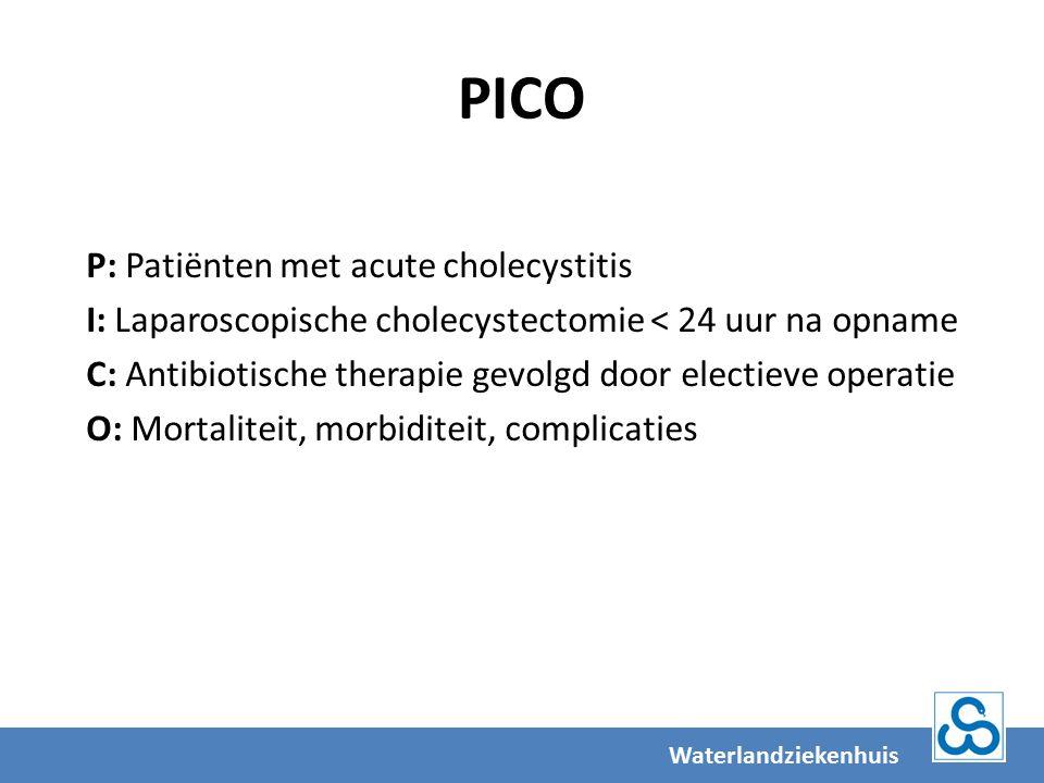 PICO P: Patiënten met acute cholecystitis