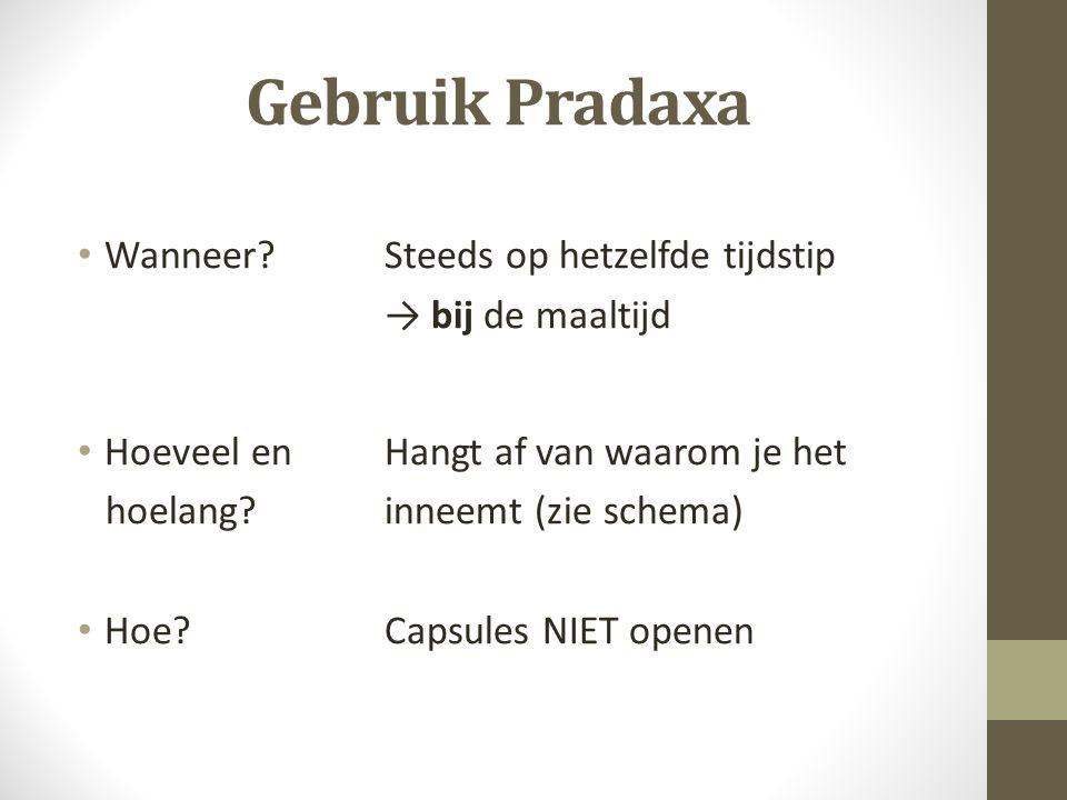 Gebruik Pradaxa Wanneer Steeds op hetzelfde tijdstip