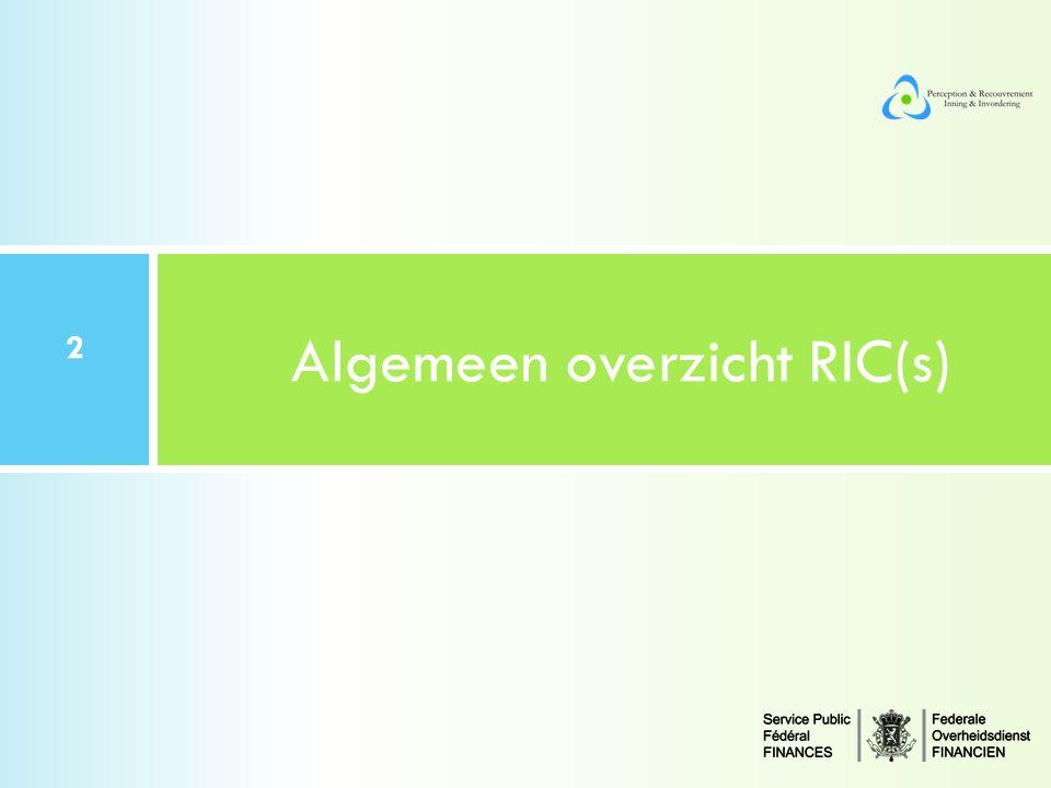 Algemeen overzicht RIC(s)