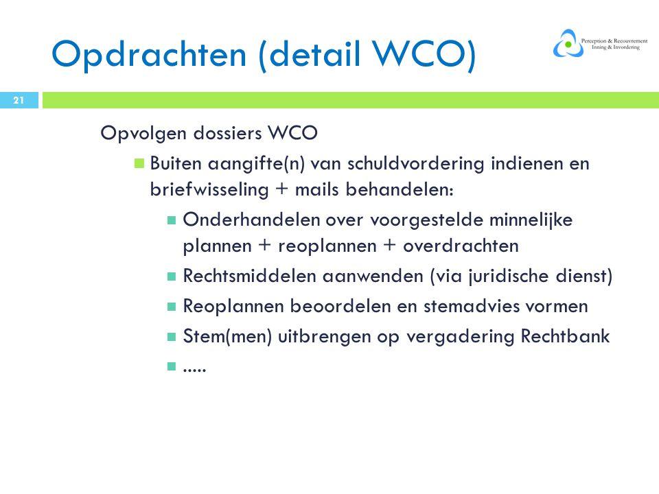 Opdrachten (detail WCO)