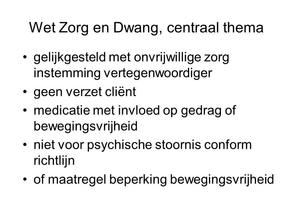 Wet Zorg en Dwang, centraal thema