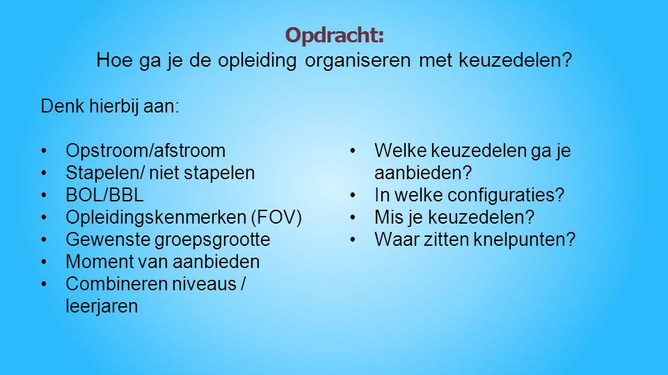 KOMT ALLEN !!! Afronden Vragen Meer informatie op www.ikhs.nl