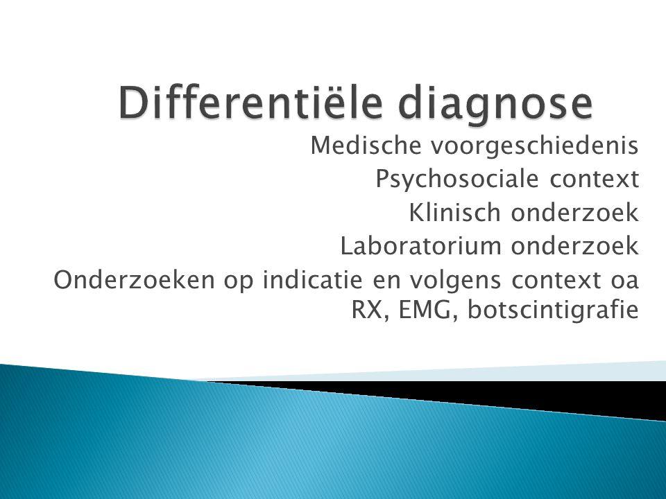 Differentiële diagnose