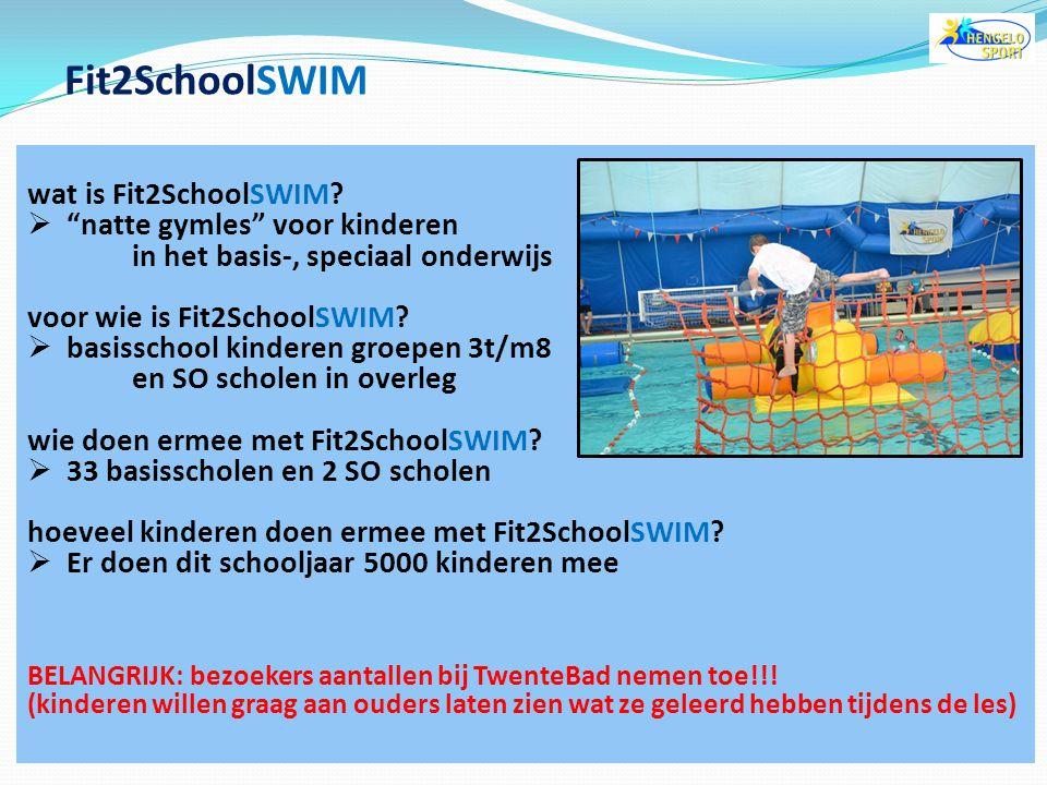 Fit2SchoolSWIM wat is Fit2SchoolSWIM natte gymles voor kinderen