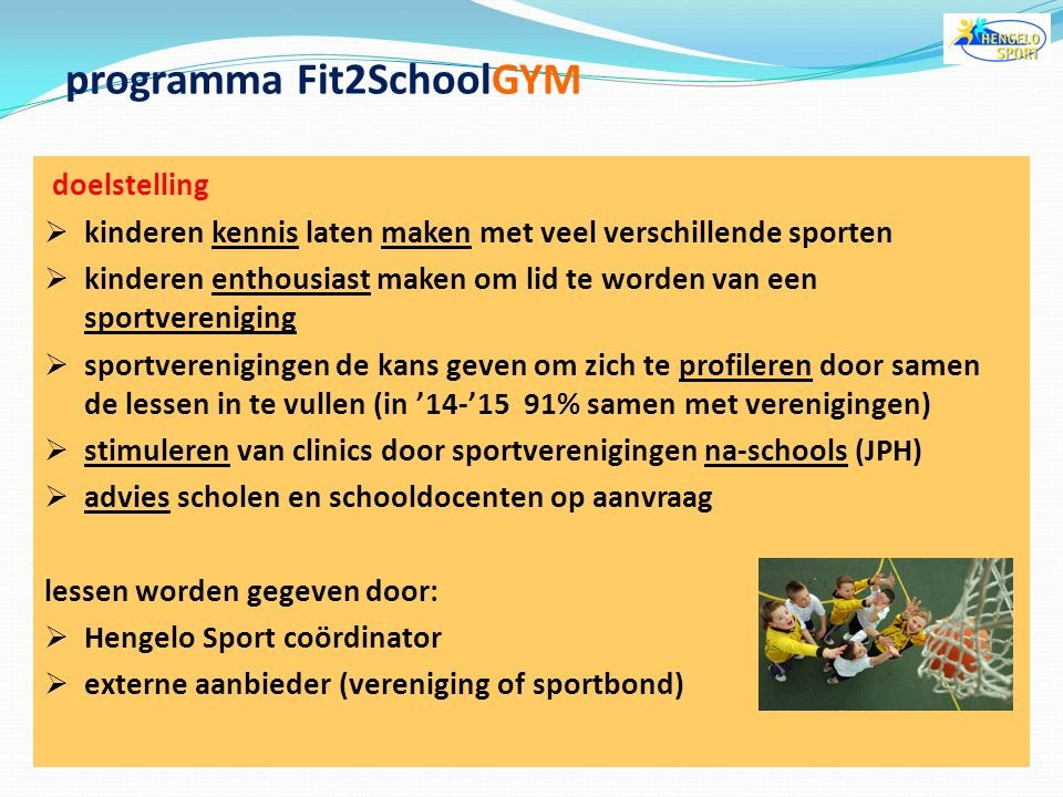 programma Fit2SchoolGYM