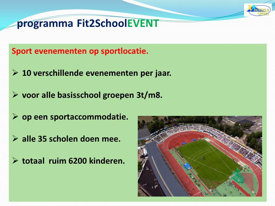 programma Fit2SchoolEVENT